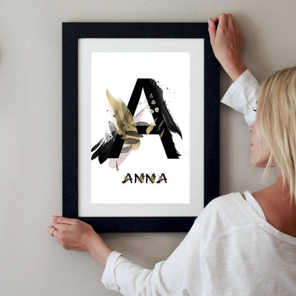 Personalised Japanese Style Letter Print - Instajunction