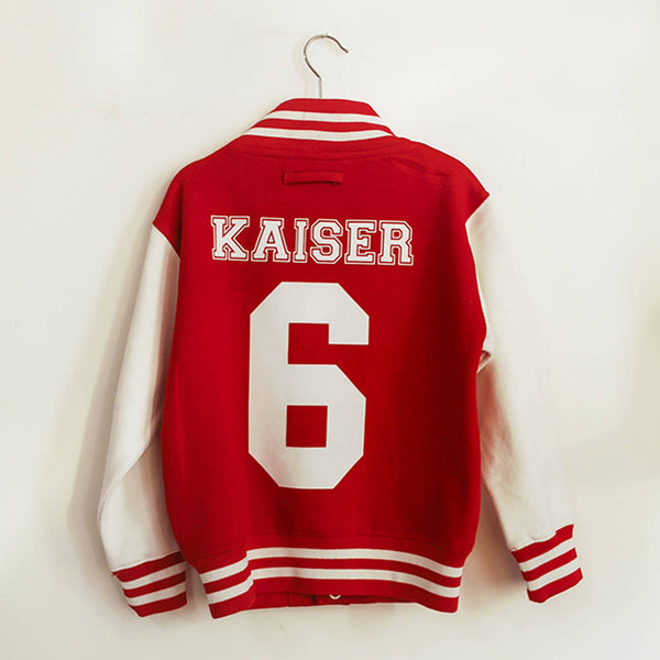 Personalised Kid's Monogram Varsity Jacket