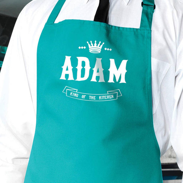 Personalised 'King Of The Kitchen' Apron