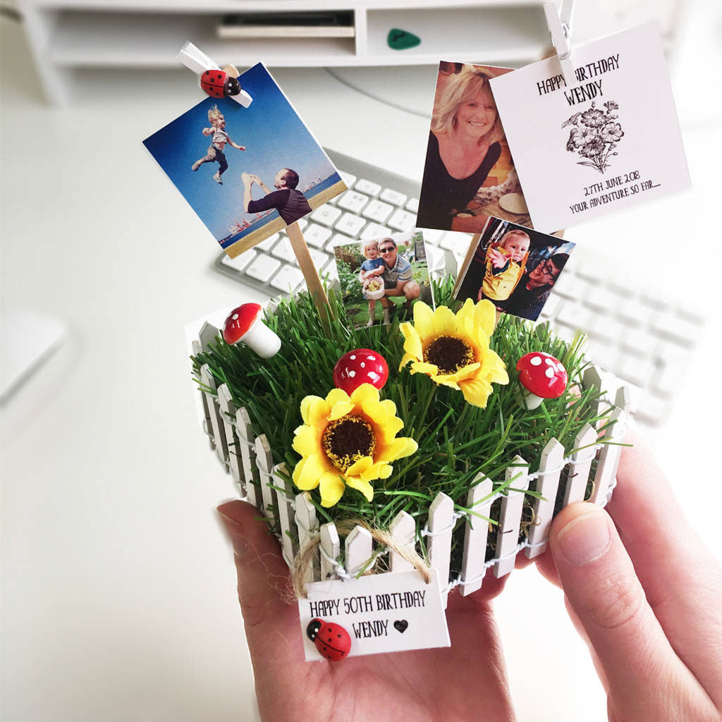 Personalised Mini Garden Desktop - Instajunction
