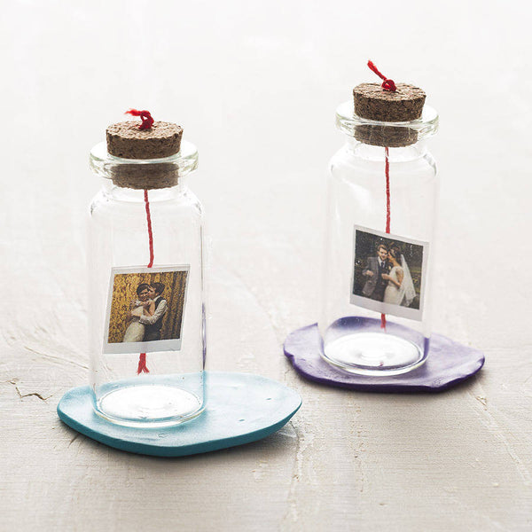 Personalised Mini Photo And Message Bottle - Instajunction
