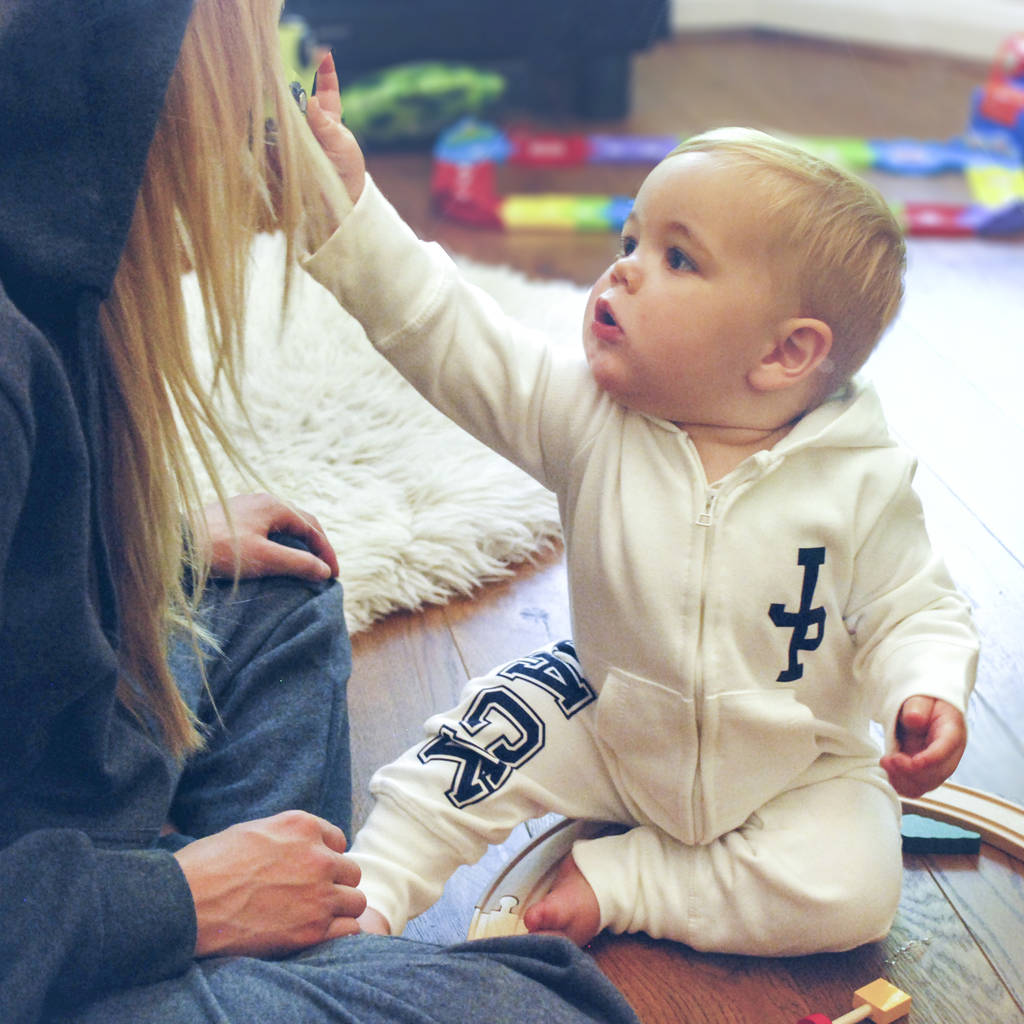 Personalised Monogram Baby And Toddler Onesies