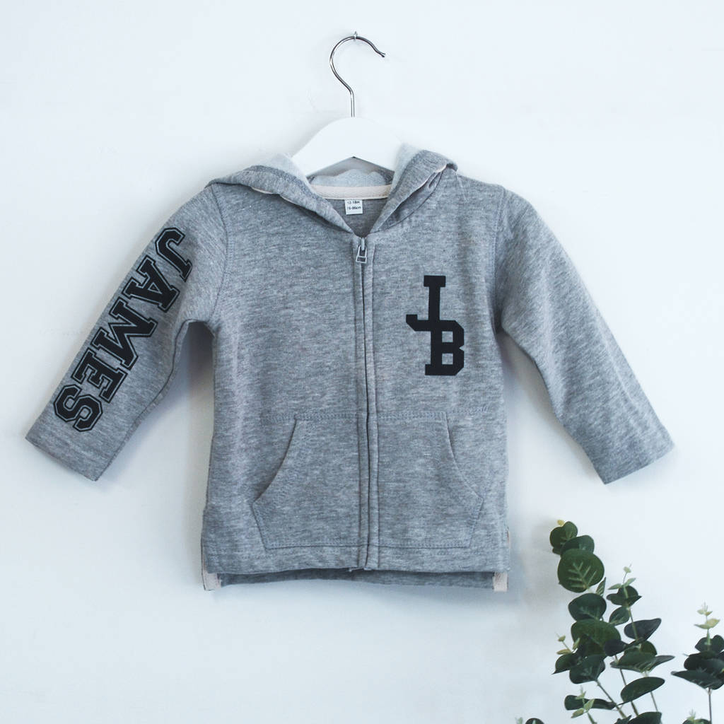 Personalised Monogram Baby/Toddler Hoodie - Instajunction