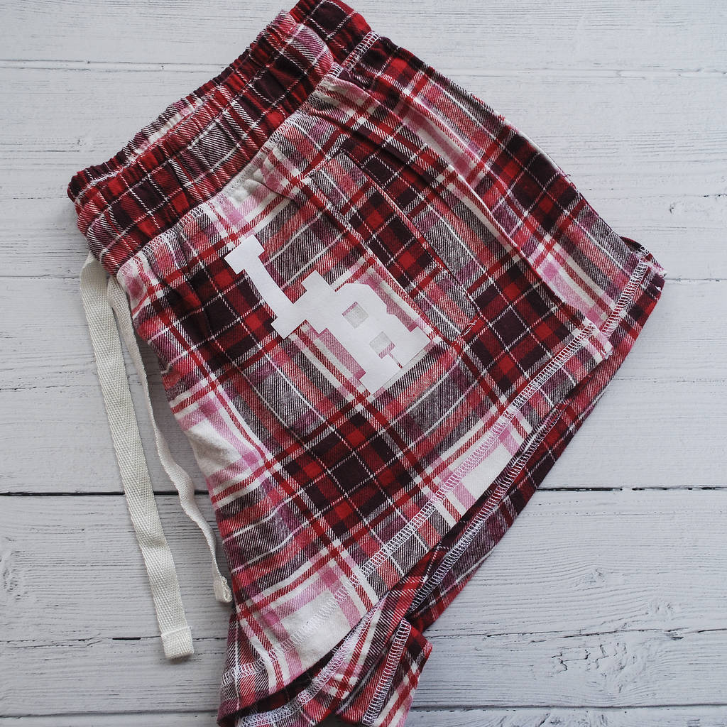 Personalised Monogram Tartan Pyjama Shorts - Instajunction