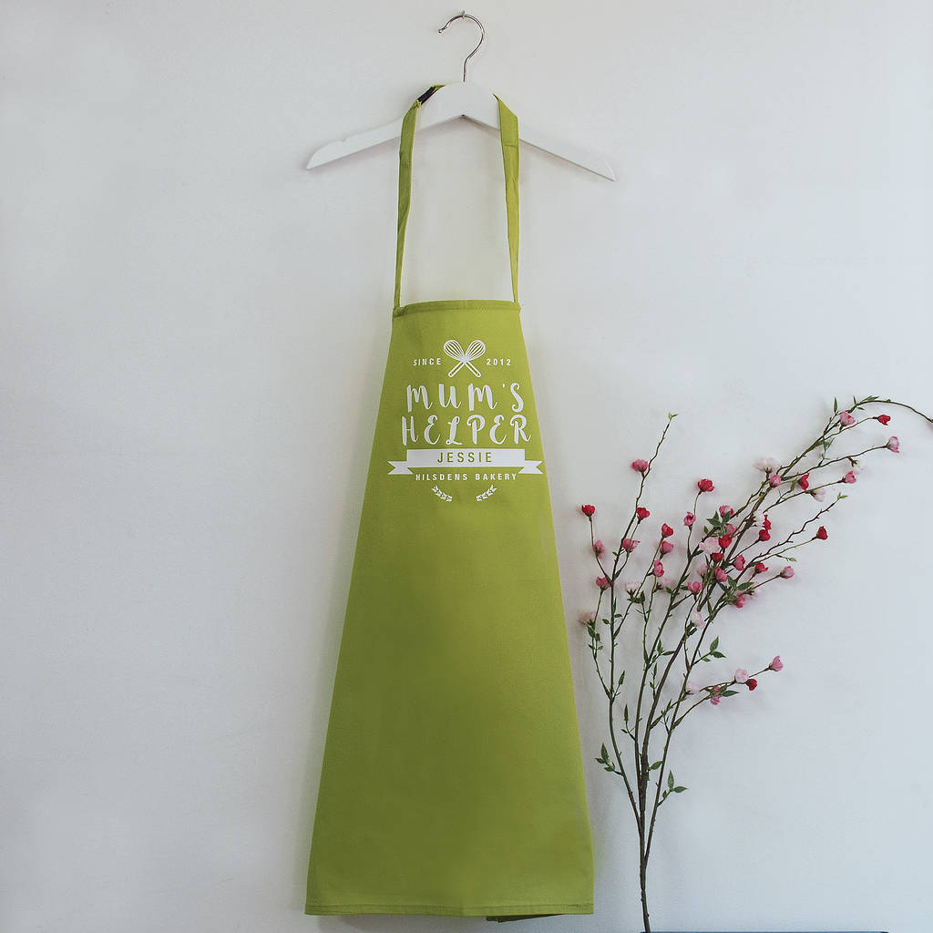 Personalised Mother And Child Apron Set
