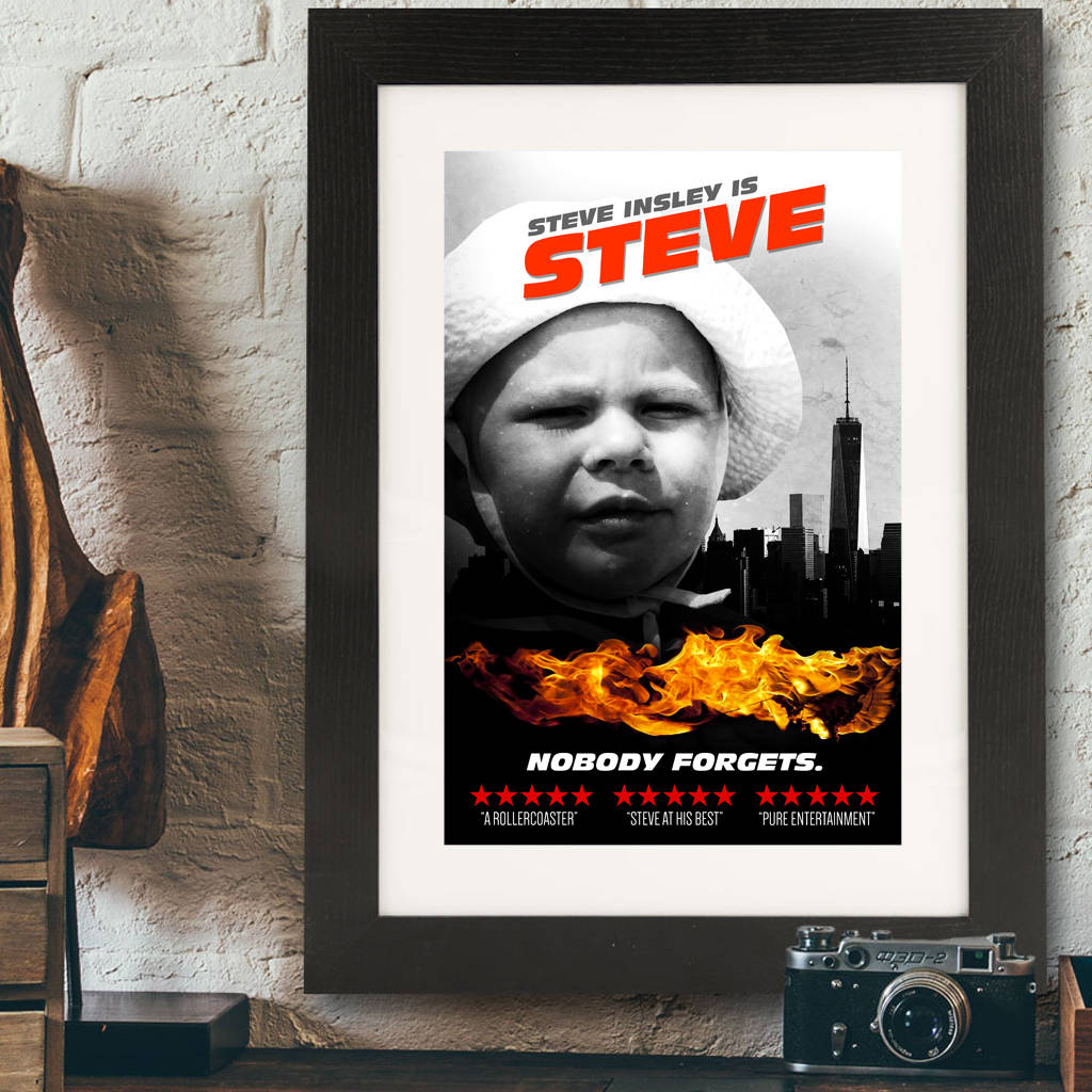 Personalised Movie Poster Print - Instajunction