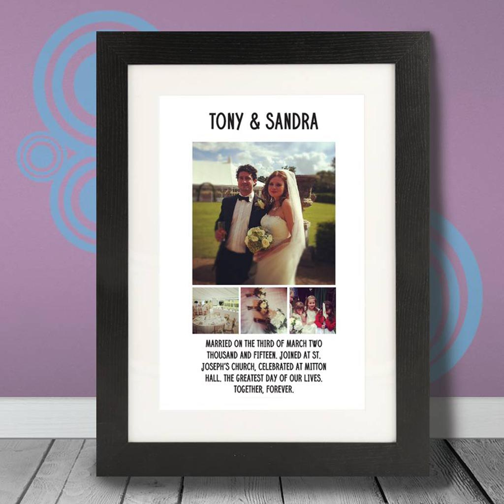 Personalised Occasion Photo And Message Print