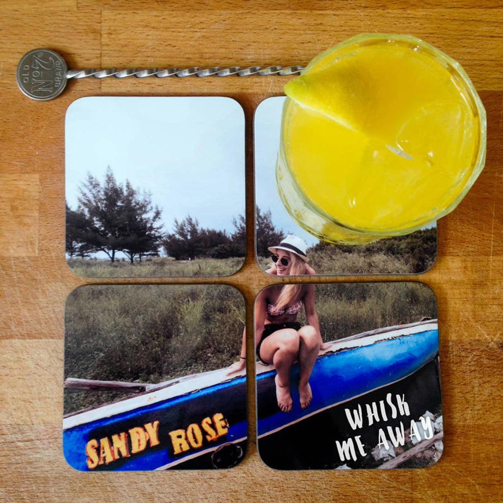 Personalised Photo Jigsaw Drinks Coasters - Instajunction
