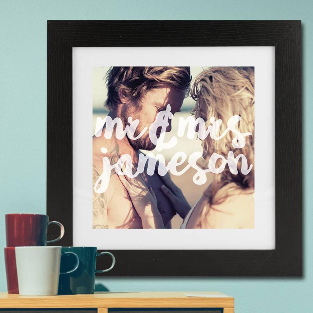 Personalised Photo 'Mr And Mrs' Framed Print