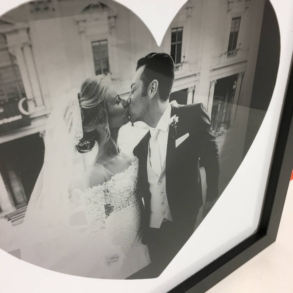 Personalised Photo And Shape 3D Box Frame - Instajunction