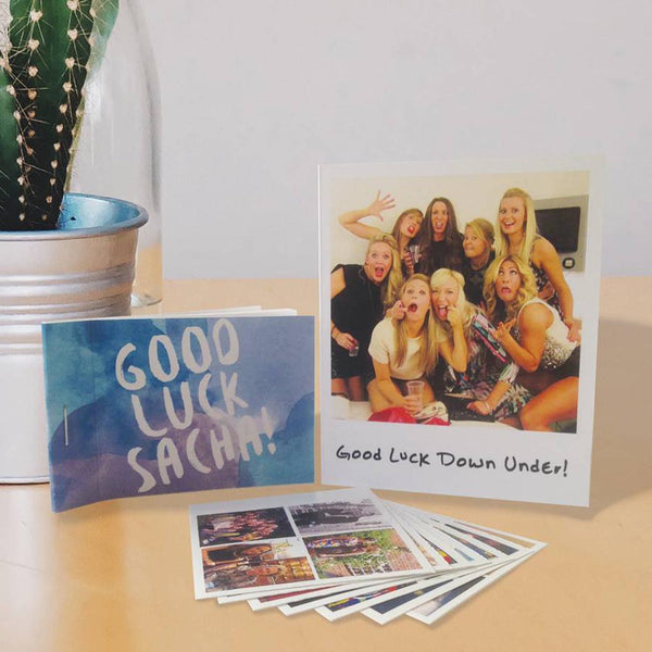 Personalised Photo Sticker Book And Gift Card - Instajunction