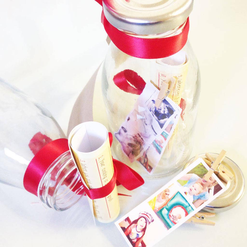 Personalised Photo Strip 'Message In A Bottle'