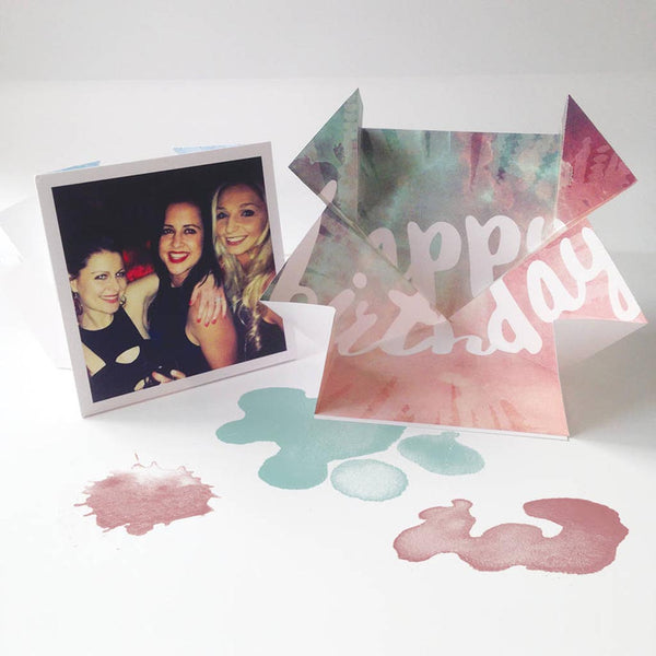 Personalised Pop Up 'Explosion' Gift Card