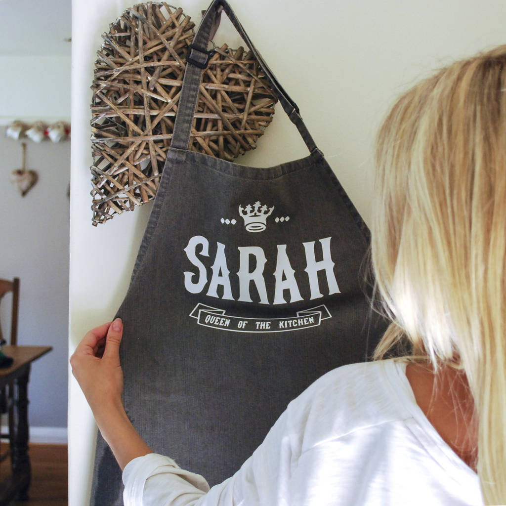 Personalised 'Queen Of The Kitchen/Garden' Apron - Instajunction