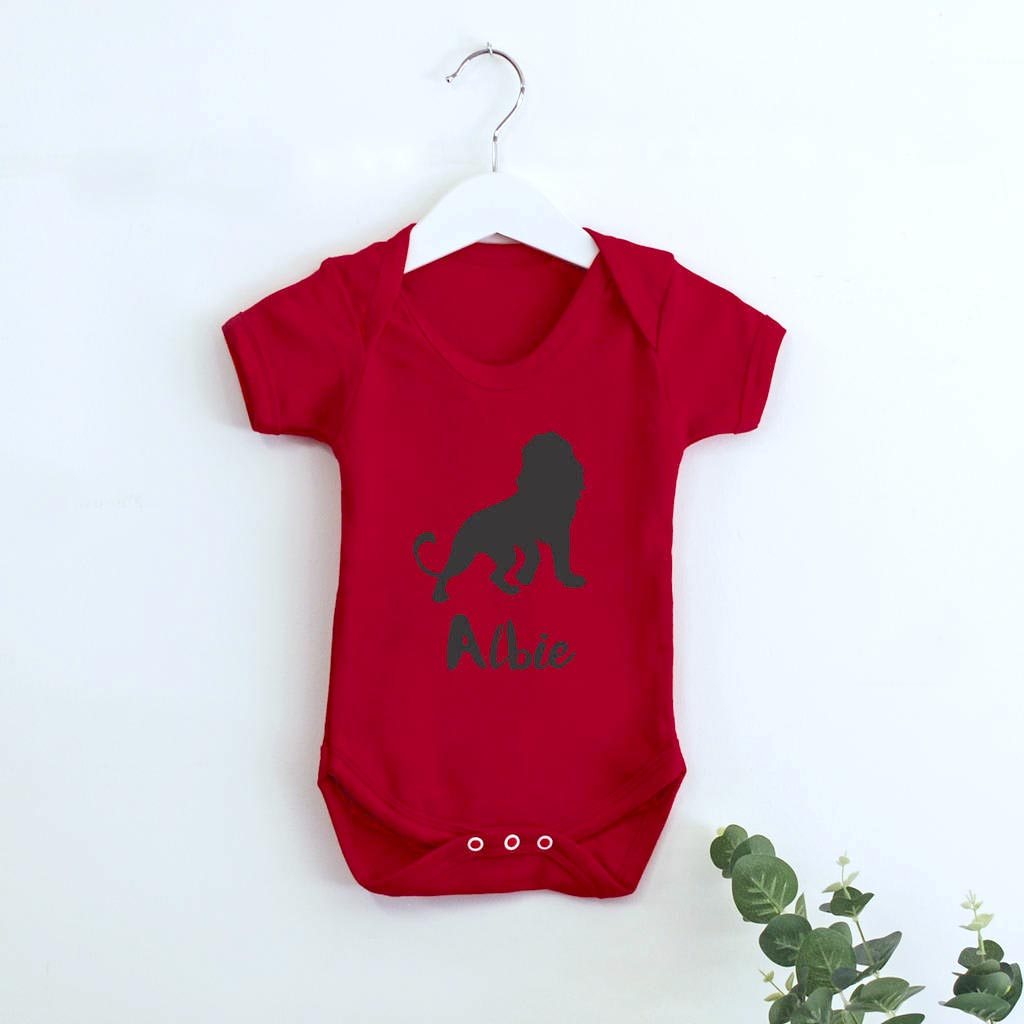 Personalised Safari Print Babygrows