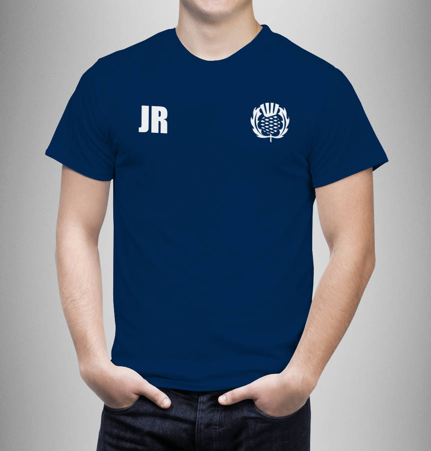 Personalised Scotland Rugby Supporters Mens T-Shirt - Instajunction