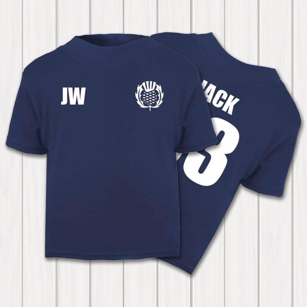 Personalised Scotland Rugby Supporters Baby And Toddler T-Shirt - Instajunction