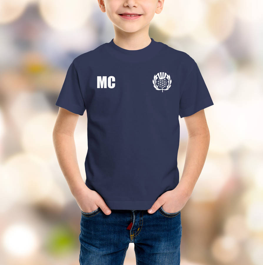 Personalised Scotland Rugby Supporters Kids T-Shirt - Instajunction