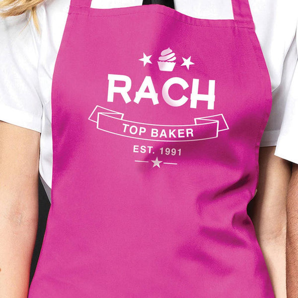 Personalised 'Top Baker' Apron - Instajunction