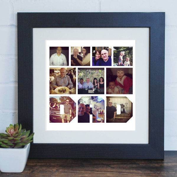 Personalised Text Cutout Photo Print