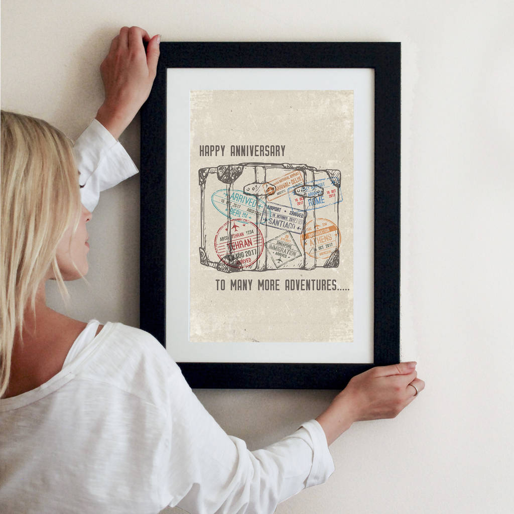 Personalised Travel Themed Print - Instajunction