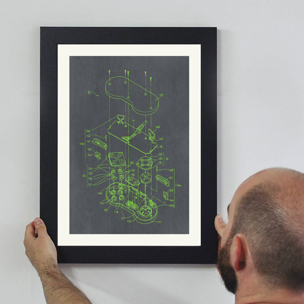 Retro Video Game Controller Wall Art - Instajunction
