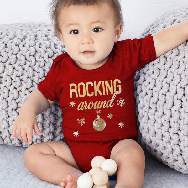 Rocking Around Baby And Toddler Christmas Babygrow - Instajunction