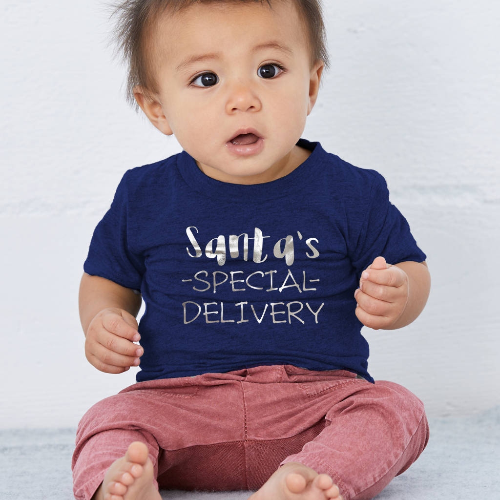 Santa's Special Delivery Baby And Toddler Christmas T-Shirt