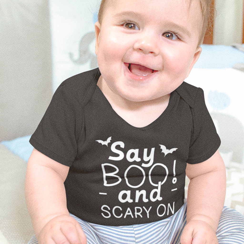 Say Boo… Scary On Babygrow - Instajunction
