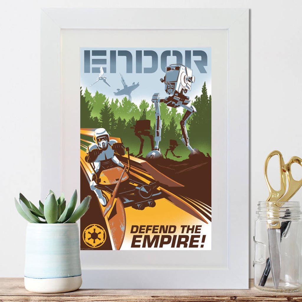 Star Wars Retro Endor Framed Print - Instajunction
