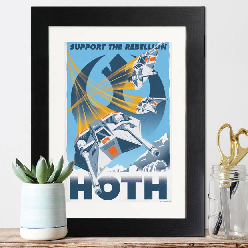 Star Wars Retro Hoth Framed Print - Instajunction