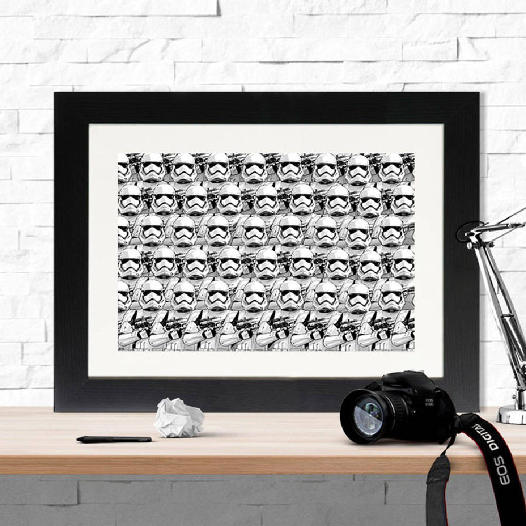 Star Wars Stormtrooper Army Framed Print - Instajunction