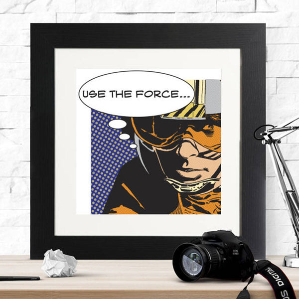 Star Wars Use The Force Framed Print - Instajunction