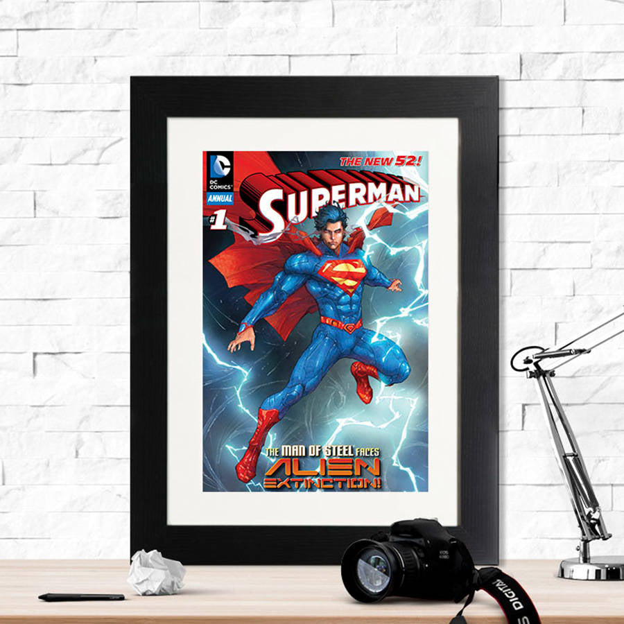 Superman Alien Extinction Framed Print - Instajunction