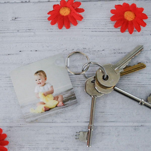 Personalised Photo And Message Keyring