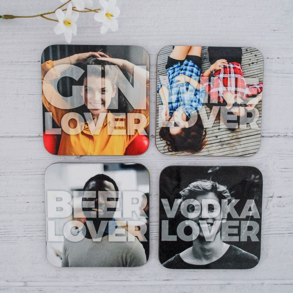 Personalised Alcohol Lover Drinks Coasters - Instajunction