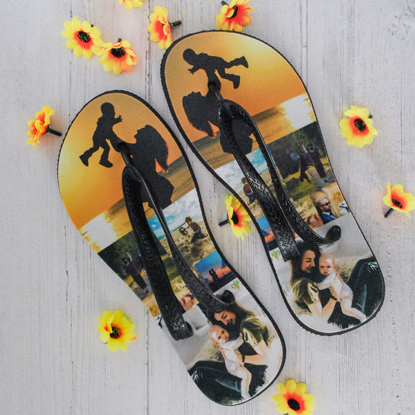 Personalised Photo Flip Flops