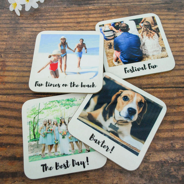 Personalised Retro Style Drinks Coasters - Instajunction