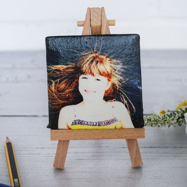 Mini Personalised Photo Canvas With Easel
