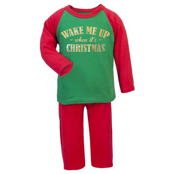 Wake Me Up When It's Christmas Kids Pyjama Set - Instajunction