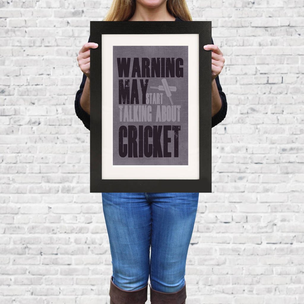 'Warning May Start Talking About..' Framed Print - Instajunction