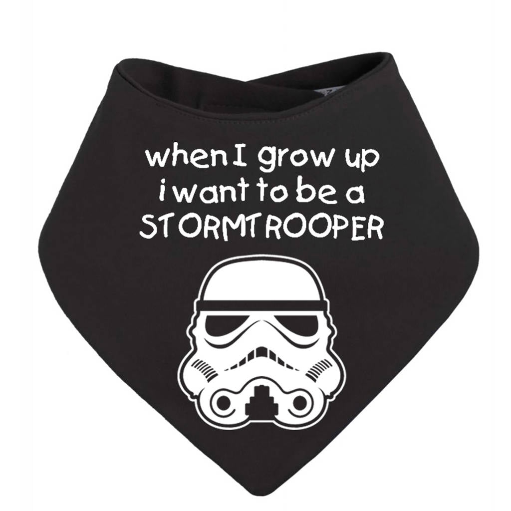 When I Grow Up… Stormtrooper Baby Bib - Instajunction