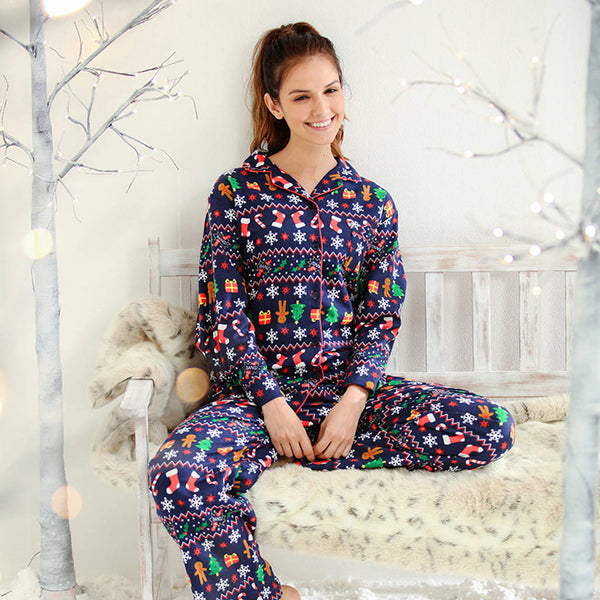 Womens Festive Christmas Pyjamas - Instajunction