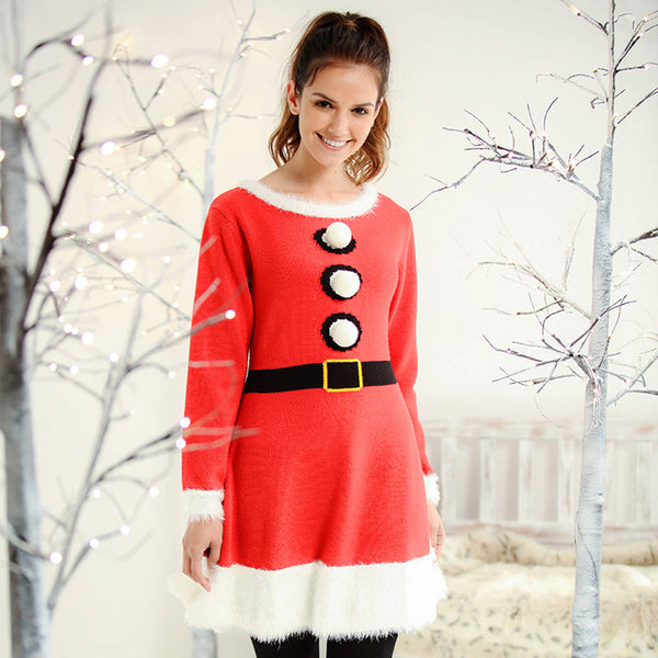 Women's Knitted Christmas Dress - Instajunction