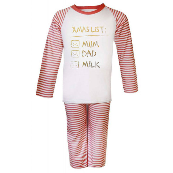 Xmas Checklist Kid's Christmas Pyjamas - Instajunction