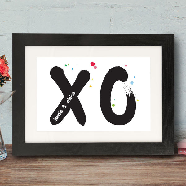 Hugs And Kisses Framed Print - Instajunction