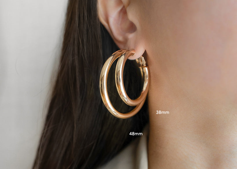 kyo 38mm and 48mm statement hoops - thehexad