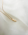 18k gold plated necklace with delicate chain and diamond pendant