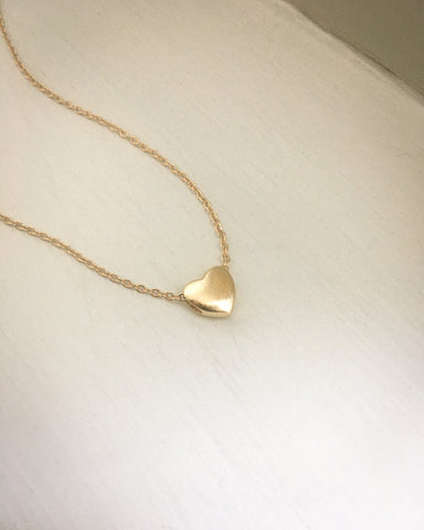 18k gold plated heart shape pendant necklace @thehexad