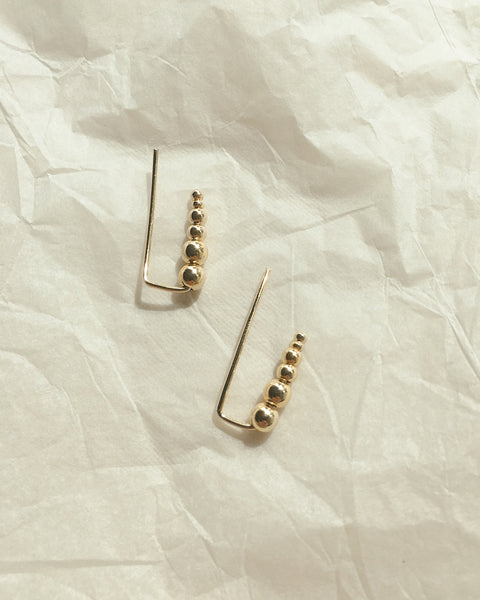 ABACUS Climber Earrings in Gold by The Hexad